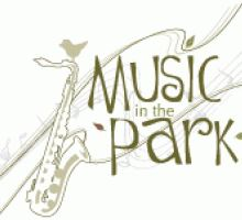 image of Music in the Park sign