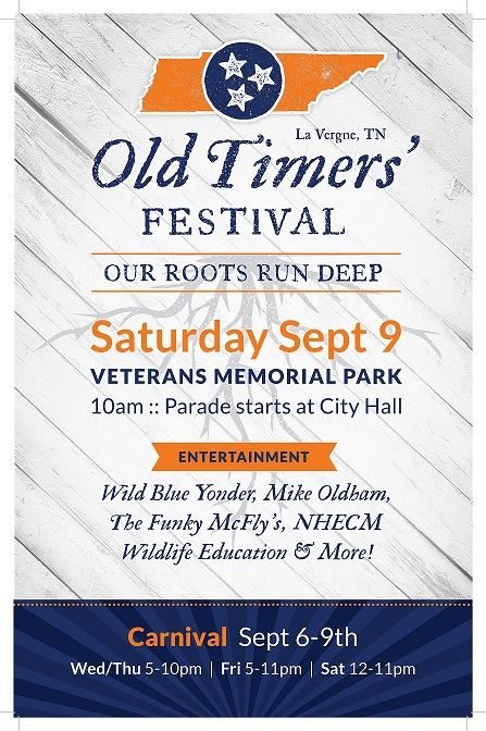 Image of Old Timers Festival poster - Our Roots Run Deep