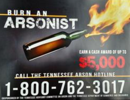 burn an arsonist