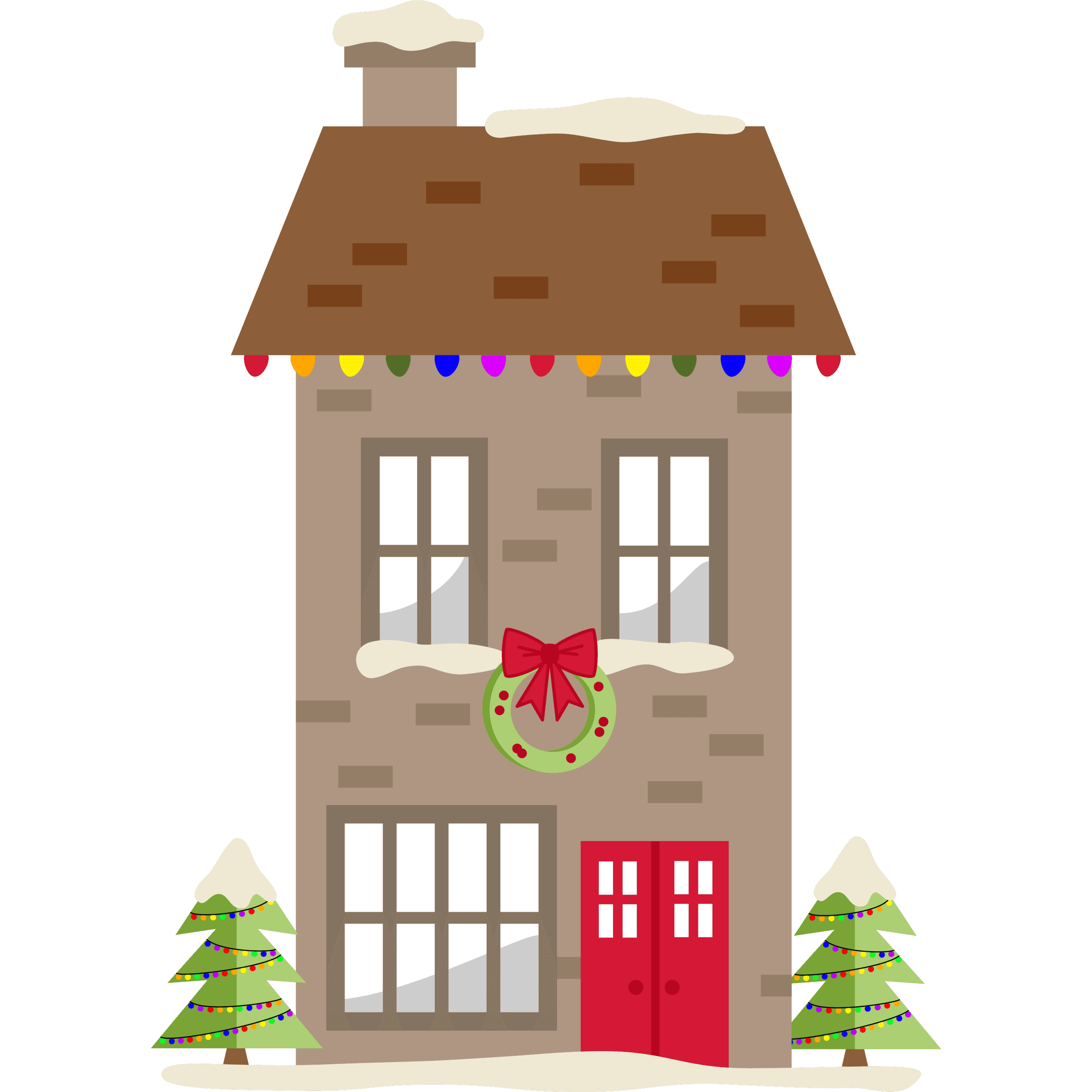 Christmas House (brown)