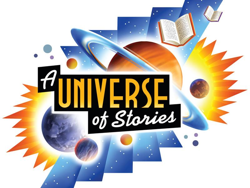 "image of summer reading theme, ""A Universe of Stories"""