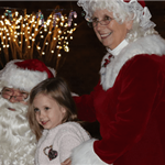Parade of Lights 2019 - Santa, Mrs Claus and Girl