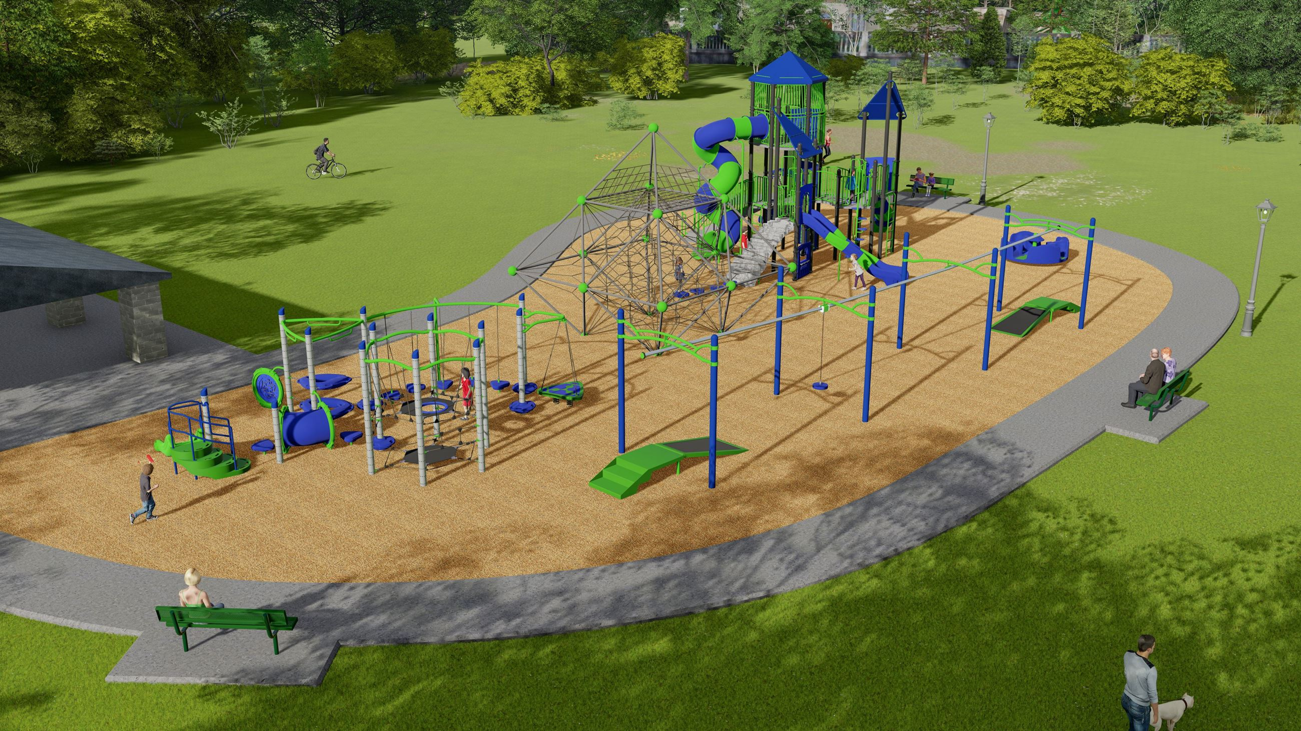 New Veterans Memorial Park Rendering