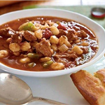image of bolw of pinto beans and cornbread