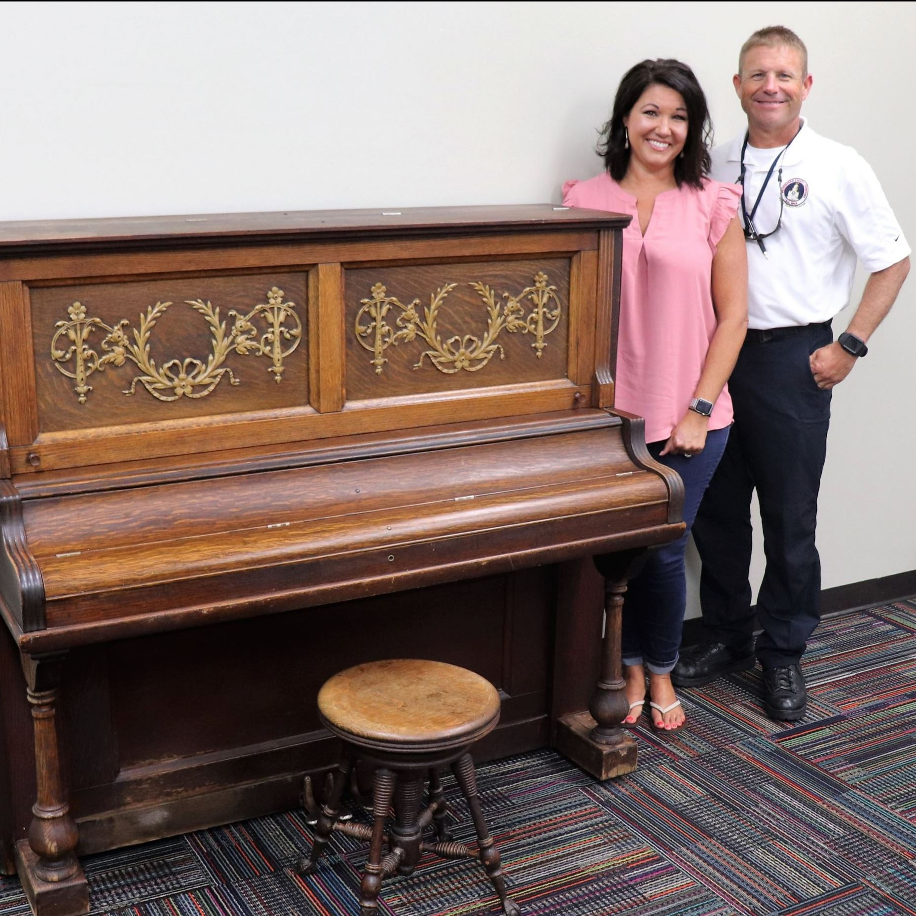 Clark Family Donates Piano to Public Library
