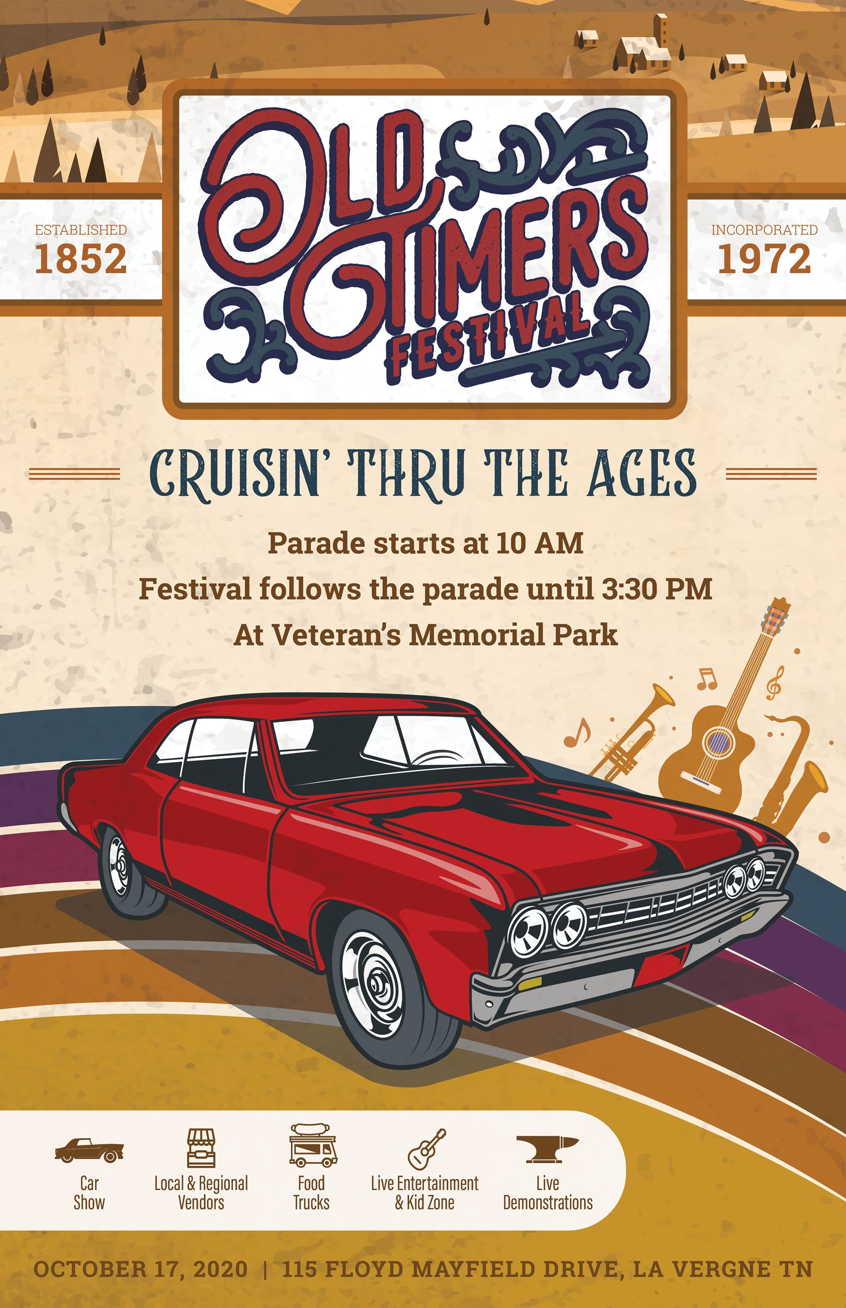 2020 Cruisin Thru the Ages Poster
