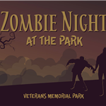 image of Zombies in a park at night