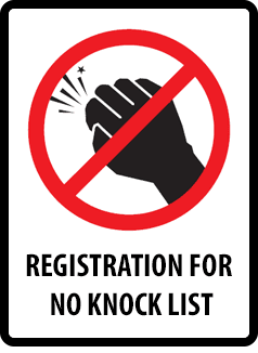 "image of ""No Knock"" sign"