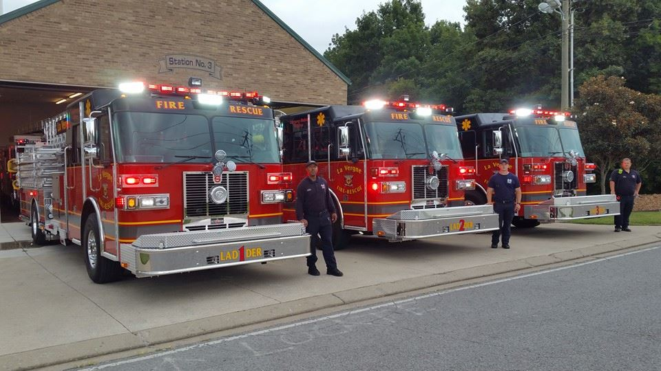 image of LFD fire engines