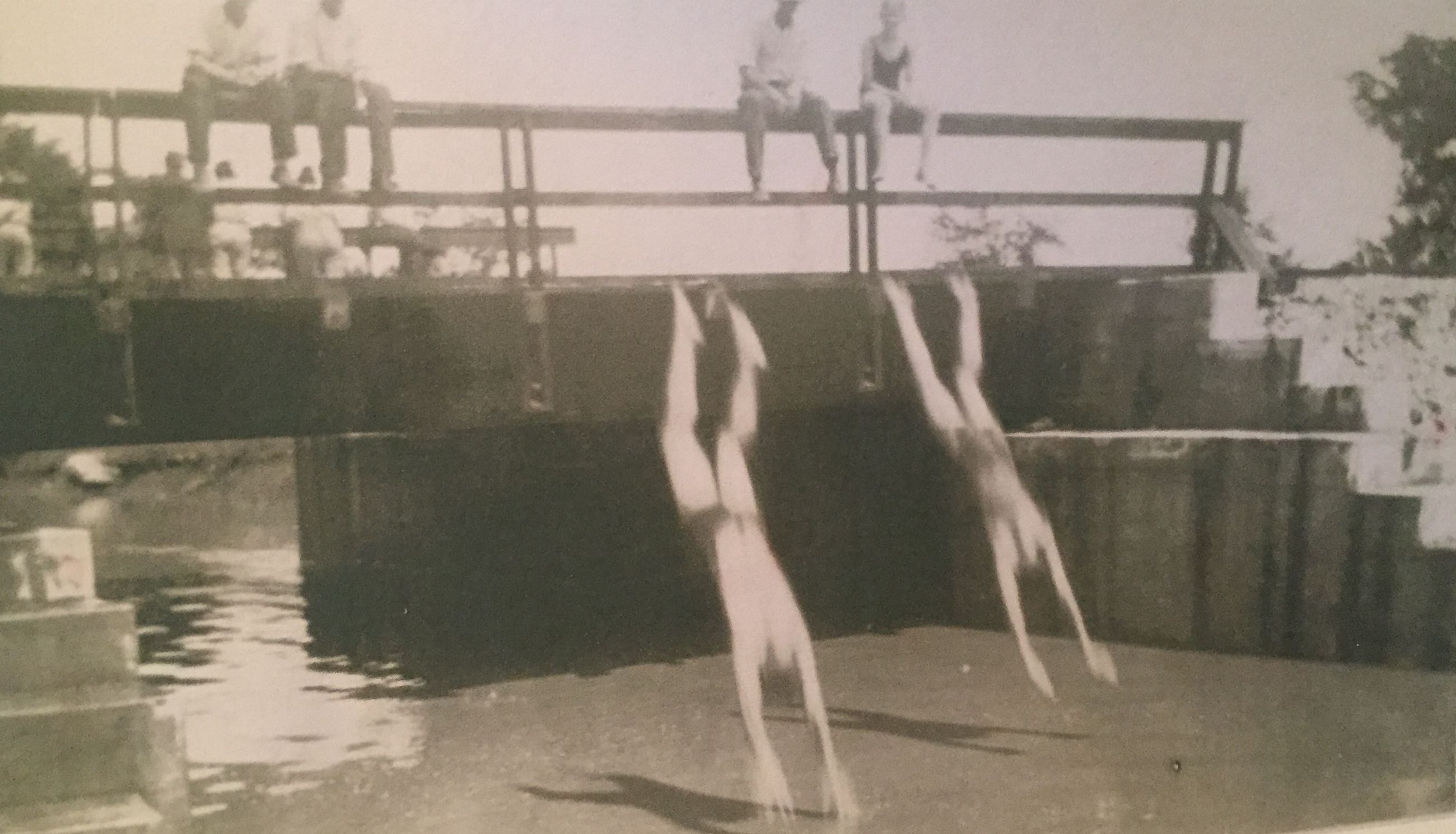 image of swimmers at Old Nashville Hwy overpass