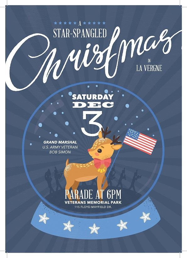 image of Star Spangled Christmas Parade poster