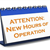 image of New Hours of Operation sign